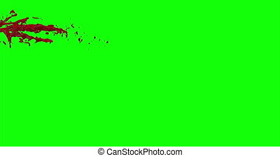 Blood Burst Slow Motion (Green Screen) 35