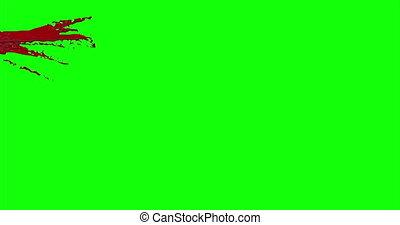 Blood Burst Slow Motion (Green Screen) 4