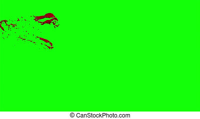 Blood Burst Slow Motion (Green Screen) 7