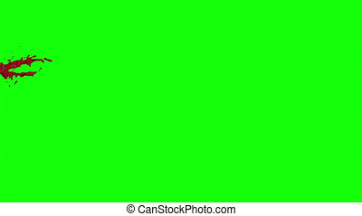 Blood Burst Slow Motion (Green Screen) 46