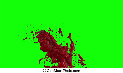 Blood Burst Slow Motion (Green Screen) 167