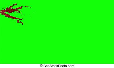 Blood Burst Slow Motion (Green Screen) 28