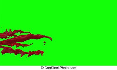 Blood Burst Slow Motion (Green Screen) 95