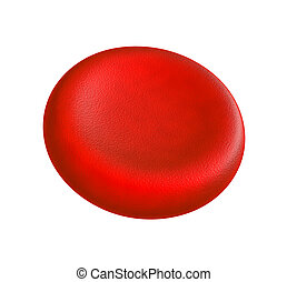 Blood cell - Illustration of human blood cell - isolated on...