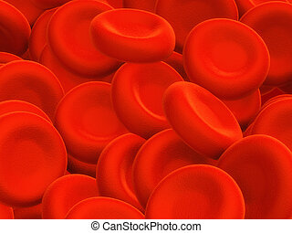Blood cells - Illustration of human blood cells - 3d render