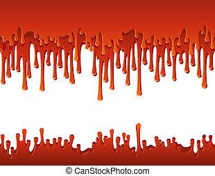 blood - Vector illustration - flowing blood border
