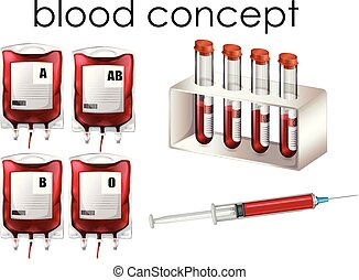 Blood Concept on White Background