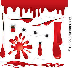 Vector Blood design elements and decorations