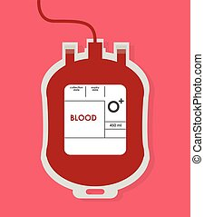 Blood design. Health care icon. Colorful illustration -...