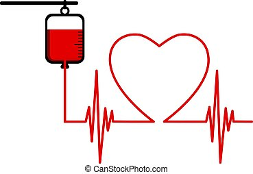 Blood donation abstract concept