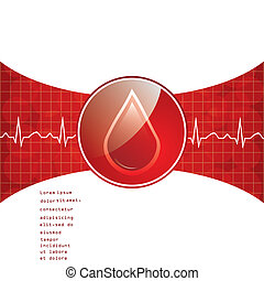 Blood donation background.vector.eps10