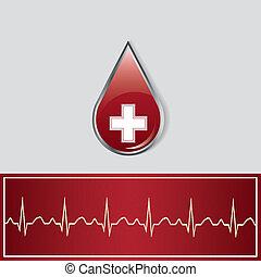 Blood donation background.