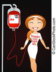 blood donation - illustration of blood donation