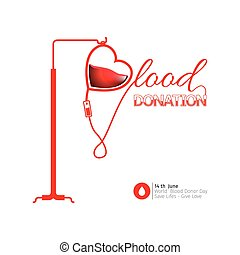 Blood donation - Colored blood donation graphic design,...