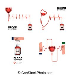 Blood donation - Colored blood donation graphic designs,...