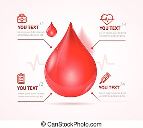 Blood Donation Concept. Vector