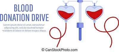 Blood donation drive design poster