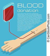 Blood donation illustration - Blood donation. Blood...