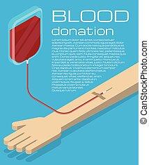 Blood donation illustration - Blood donation. Blood...