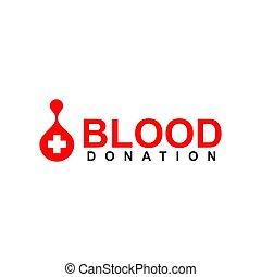 Blood donation logo design template