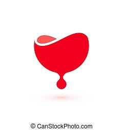 Blood donation logo template