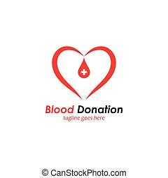 blood donation logo template design vector icon