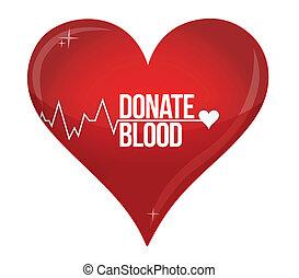 Blood donation medicine help hospital save life heart illustration design over white