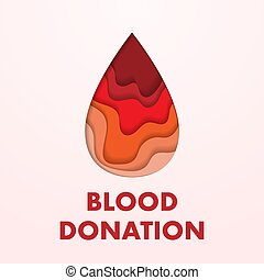 Blood donation placard