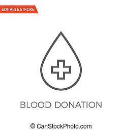 Blood Donation Vector Icon