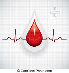 Blood donation vector. Medical background