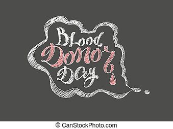 Blood Donor Day. Lettering text