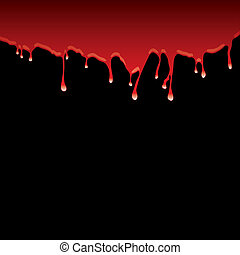Blood red top border with dribble effect and black background