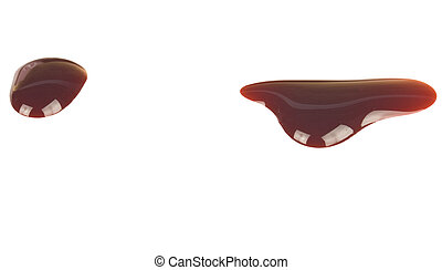 Blood drip isolated on white - Blood drip isolated on a...