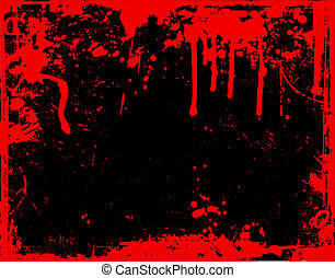 Blood drips  - Background of drips and splatters
