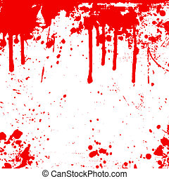 Blood drips  - Background of splats and drips
