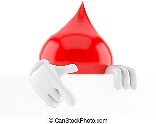 Blood drop character