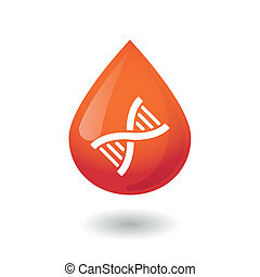 Blood drop icon - Illustration of an osolated blood drop...