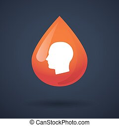 Blood drop icon with a head