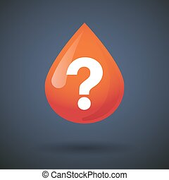 Blood drop icon with a question sign