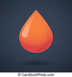 Blood drop icon with