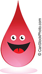 Blood Drop isolated on a white background.