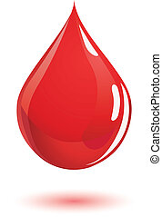 Blood drop - Perfectly shaped blood drop.