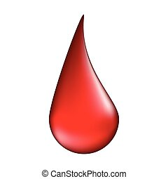 blood drop vector symbol icon design. illustration isolated on white background