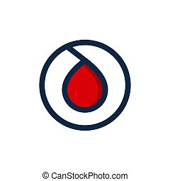 blood droplet logo design vector icon the symbol of a bloods drop symbol illustration