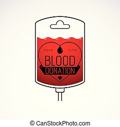 Blood dropper vector graphic illustration isolated on white....