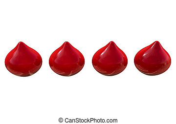 Blood drops - 3d rendered illustration
