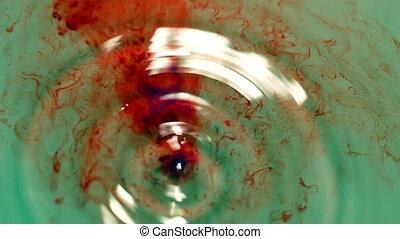 Blood Drops Flowing In Water