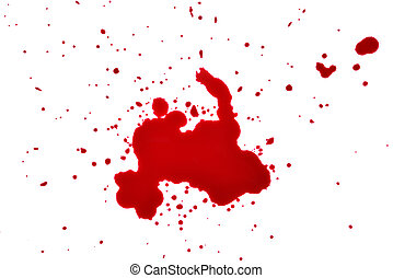 blood drops on a white background