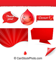 Blood Elements, Isolated On White Background, Vector...