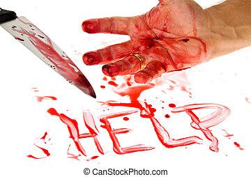 blood., fegyver, gyilkosság, kés, crime.